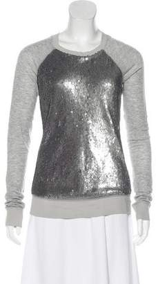 Elizabeth and James Sequined Long Sleeve Top