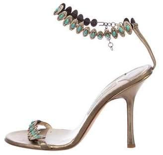 Jimmy Choo Embellished Ankle Strap Sandals