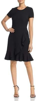 Karl Lagerfeld Paris Short-Sleeve Ruffle-Hem Dress