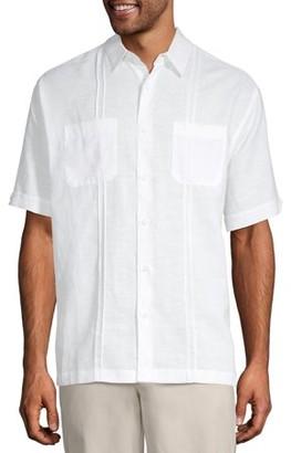 Café Luna Cafe Luna Men's Short Sleeve Two Pocket Linen Woven Shirt