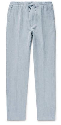 NN07 Glasgow Slim-Fit Pinstriped Woven Drawstring Trousers