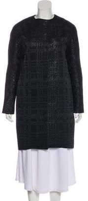 Martin Grant Textured Knit Long Sleeve Coat