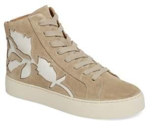 Frye Lena Floral High Top Sneaker