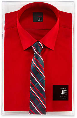 Jf J.Ferrar JF Slim-Fit Shirt and Tie Box Set