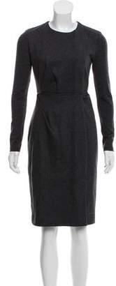 Max Mara Long Sleeve Wool Dress