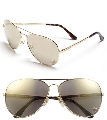 MICHAEL Michael Kors 'Lola' 63mm Aviator Sunglasses