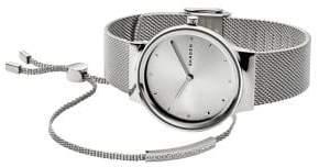 Skagen Freja Steel-Mesh Watch & Merete Bracelet Box Set