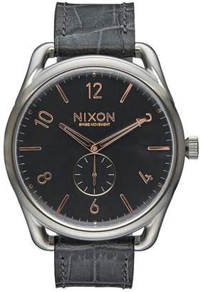 Nixon Men's A4652145 Leather Swiss Quartz Watch