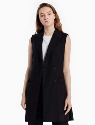 Calvin Klein wool mohair double breasted long vest