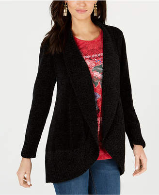 Style&Co. Style & Co Shawl-Collar Open-Front Cardigan