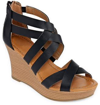 060ce8f69ecb2 A.N.A Womens Taci Wedge Sandals