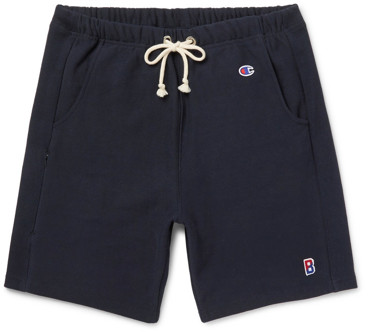 Beams + Champion Loopback Cotton-Blend Jersey Drawstring Shorts