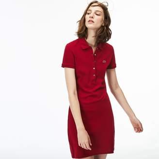 f5e2d7dac71778 Lacoste Women s Stretch Cotton Mini Pique Polo Dress