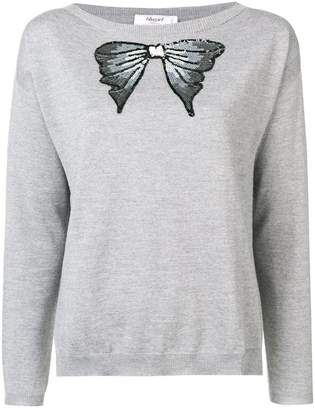 Blugirl sequinned bow sweater