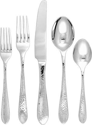 Gingko International Starlight 20-pc. 18/10 Stainless Steel Hammered Flatware Set