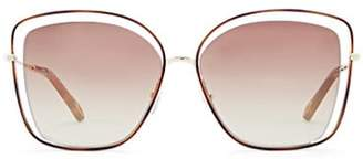 Chloé Women's Poppy Butterfly Sunglasses - Brown