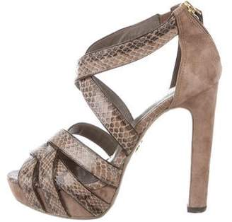 Tory Burch Snakeskin Platform Sandals