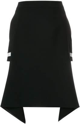 Neil Barrett cut out asymmetric hem skirt