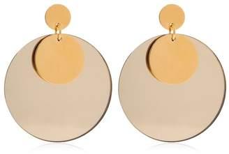 Jil Sander Double Circle Plexi Earrings