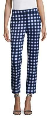 Gingham Stretch Capri Pants