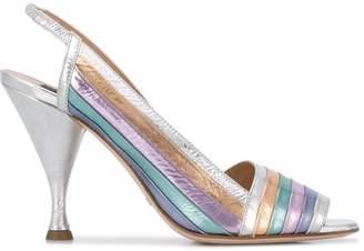 Sebastian metallic stripe sandals