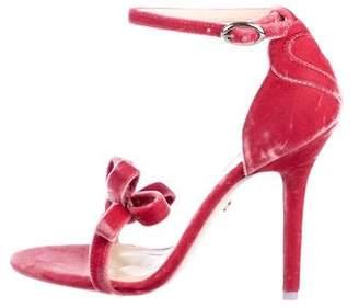 Isa Tapia Velvet Ankle Strap Sandals