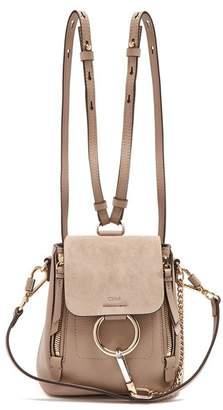 Chloé Faye Leather Backpack - Womens - Grey