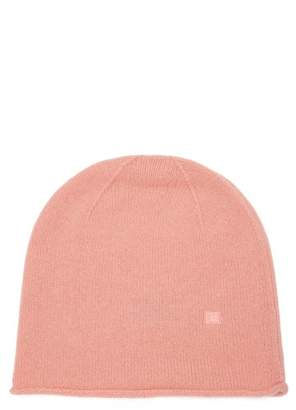 Acne Studios Pansy S Face Wool Beanie Hat - Womens - Pink