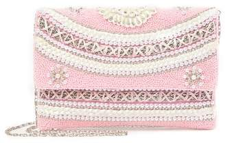 G Lish G-Lish Beaded Faux Pearl Clutch