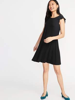 03ebb9402c391 Old Navy Flutter-Sleeve Jersey Swing Dress for Women