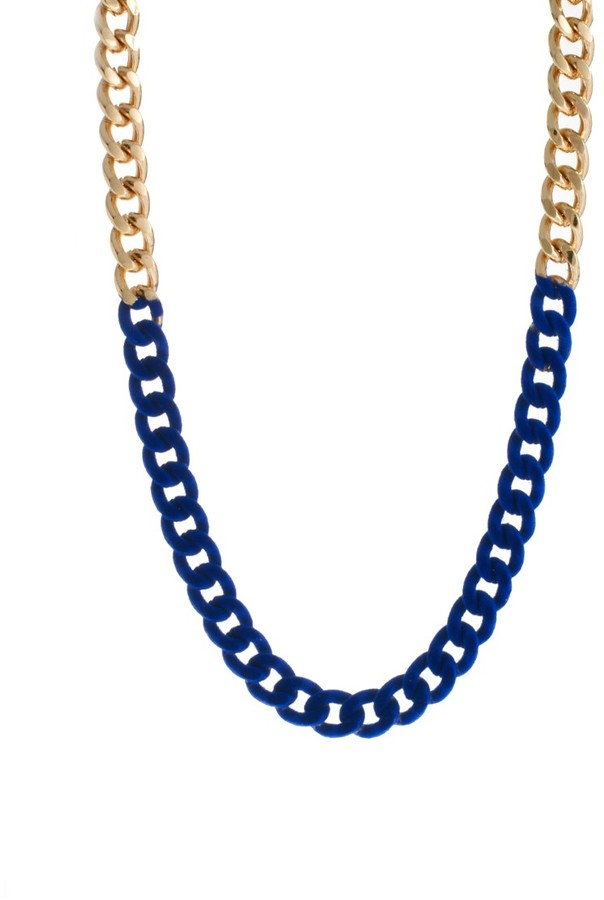 Asos Flocked Chain Necklace
