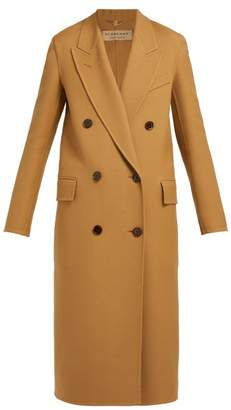 Burberry Theydon Double Breasted Wool Blend Coat - Womens - Camel