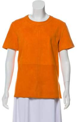 Givenchy Scoop Neckline Short Sleeve Top
