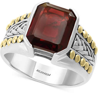Effy Men's Rhodolite Garnet Ring (6-3/8 ct. t.w.) in Sterling Silver & 18k Gold