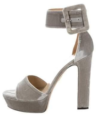Tamara Mellon Velvet Platform Sandals