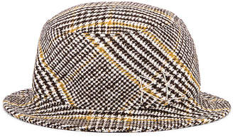 Ruslan Baginskiy Wool Plaid Bucket Hat in Multicolored | FWRD