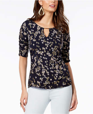 Thalia Sodi Ruched Hardware Top, Created for Macy's
