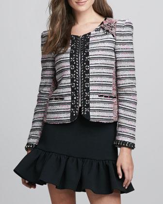 Rebecca Minkoff Roxy Beaded Tweed Jacket