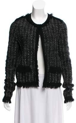 Diane von Furstenberg Patterned Fringe-Trimmed Jacket