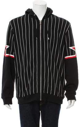 Givenchy Striped Zip-Up Hoodie