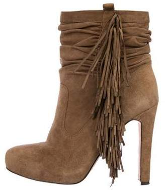 Jean-Michel Cazabat Suede Fringe Ankle Boots
