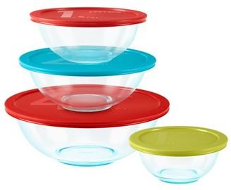 Pyrex Glass 8-Piece Mixing Bowl Set