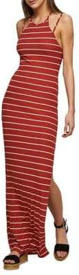 Miss Selfridge Striped Ribbed Maxi Dress