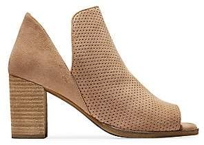 Cole Haan Women's Shiloh Suede Open-Toe Booties