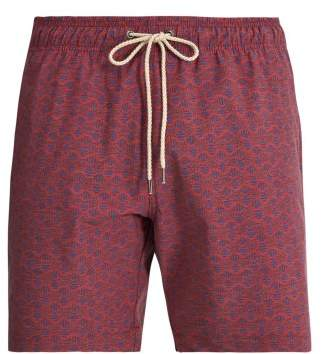 Faherty Beacon Tribal Print Swim Shorts - Mens - Red