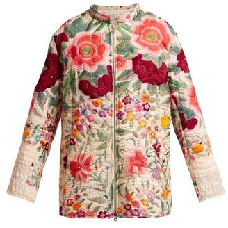 By Walid - Samia 19th Century Embroidered Silk Jacket - Womens - Pink Multi