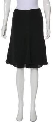 Armani Collezioni Silk Knee-Length Skirt