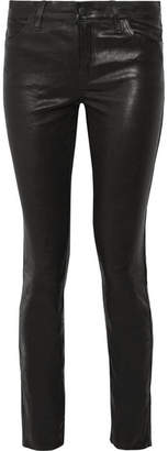 J Brand - Maude Leather Skinny Pants - Black $1,000 thestylecure.com