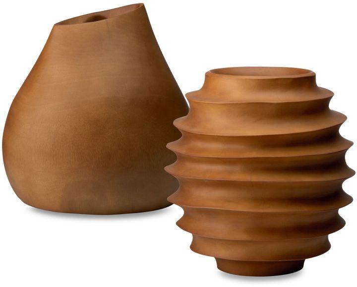 Donna Karan Lenox® Hand-Carved Wood Vases
