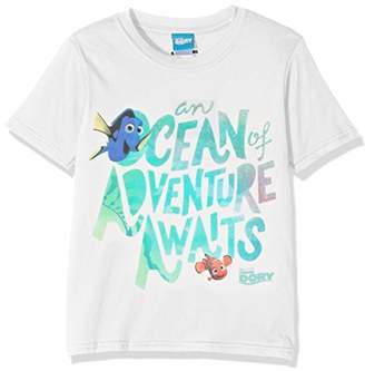 Disney Girl's Finding Dory Ocean of Adventure Short Sleeve T-Shirt